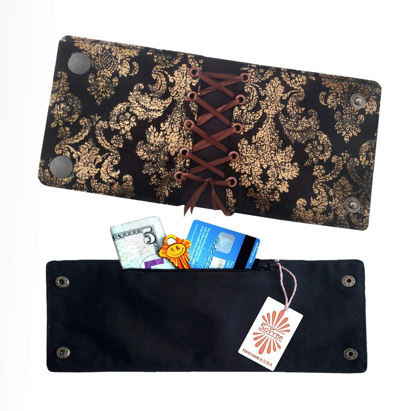 SoFree Creations Wrist Wallet Corset Style Wrist Wallet | Multiple Designs
