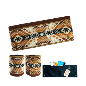 SoFree Creations Wrist Wallet Dark Browns Ethnic Peruvian Wrist Wallet