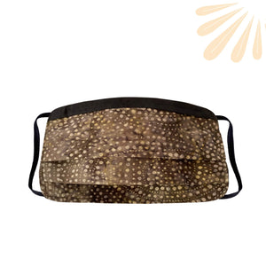 Face Mask with Filter Pocket - 100% Cotton Batik Dark Brown