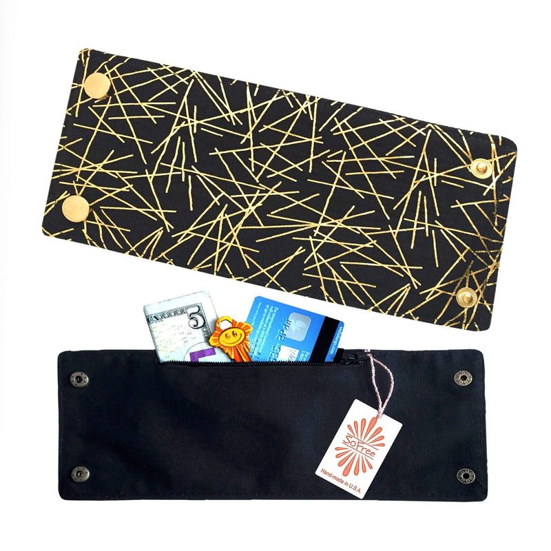 Golden Lights Wrist Wallet by SoFree Creations