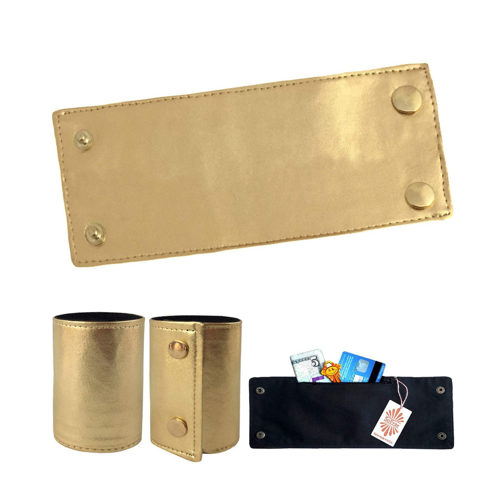 Golden Cuff Wrist Wallet by SoFree Creations