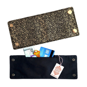 Golden Sparkles Wrist Wallet by SoFree Creations