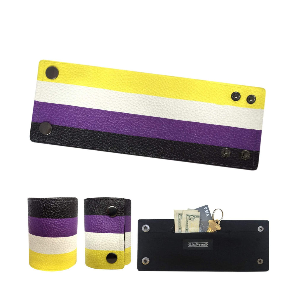 SoFree Creations Wrist Wallet Non Binary Flag Wrist Wallet