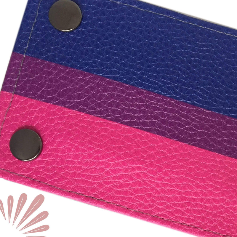 SoFree Creations Wrist Wallet Bisexual Flag Wrist Wallet