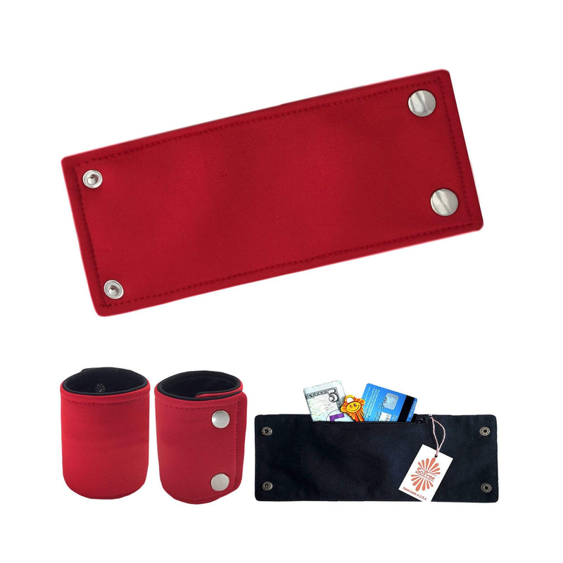 Red Neoprene Wrist Wallet By SoFree Creations