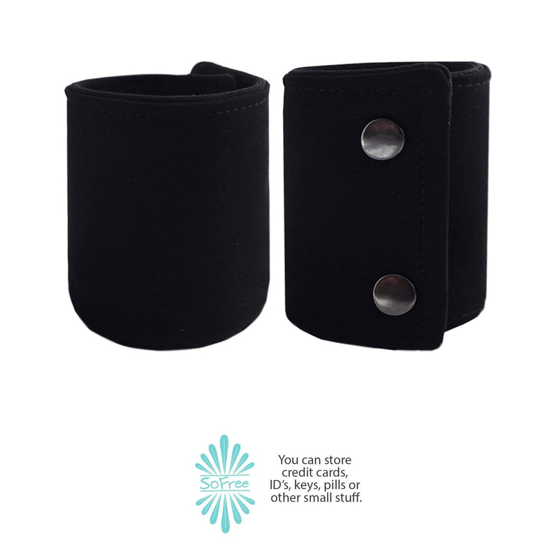 Black Neoprene Wrist Wallet By SoFree Creations