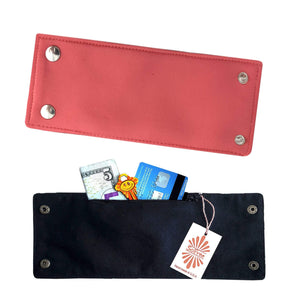 Coral Neoprene Wrist Wallet By SoFree Creations