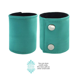 Teal Neoprene Wrist Wallet By SoFree Creations