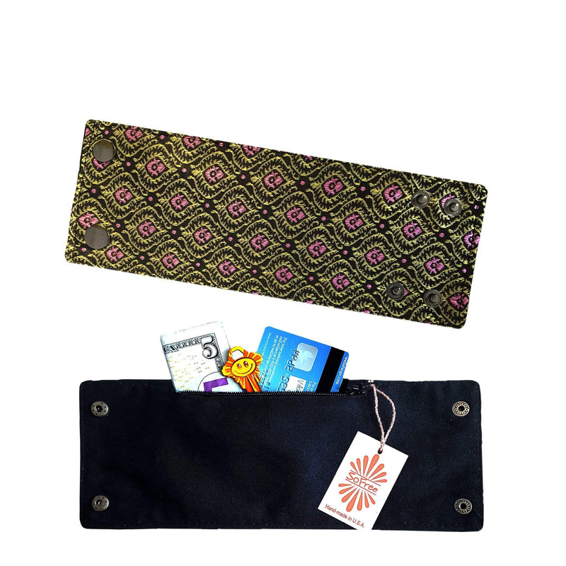 SoFree Creations Wrist Wallet Thai Silk Wrist Wallet