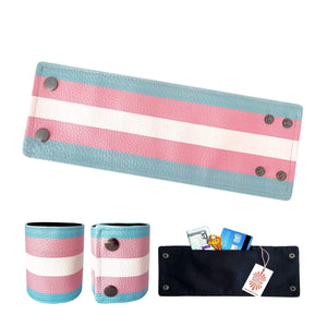 SoFree Creations Wrist Wallet Transgender Flag Wrist Wallet