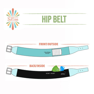 SoFree Creations Travel Belt with Secret Pockets