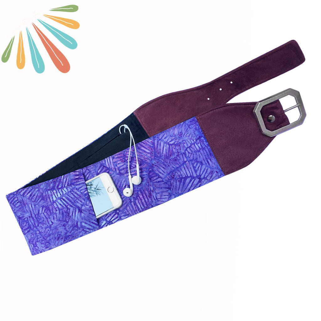 SoFree Creations Travel Belt with Secret Pockets | Batik 9