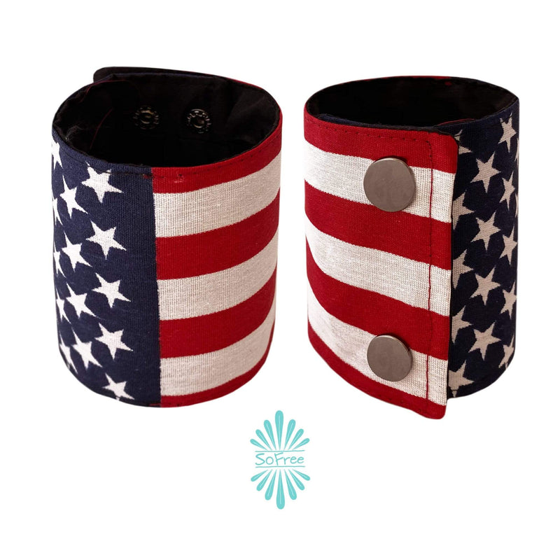 SoFree Creations Wrist Wallet USA Flag Wrist Wallet