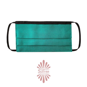 SoFree Creations Face Mask Washable Face Mask with Filter Pocket - DARK TEAL