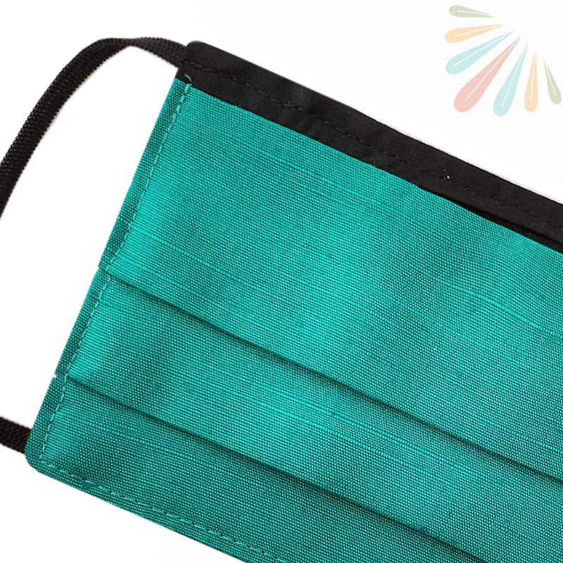SoFree Creations Face Mask Washable Face Mask with Filter Pocket - DARK TEAL MU2-A