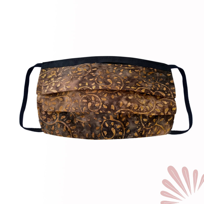 SoFree Creations Face Mask Washable Face Mask with Filter Pocket - Hand Painted Cotton Batik 5
