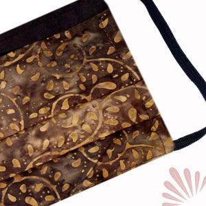 SoFree Creations Face Mask Washable Face Mask with Filter Pocket - Hand Painted Cotton Batik 5 MB5-A