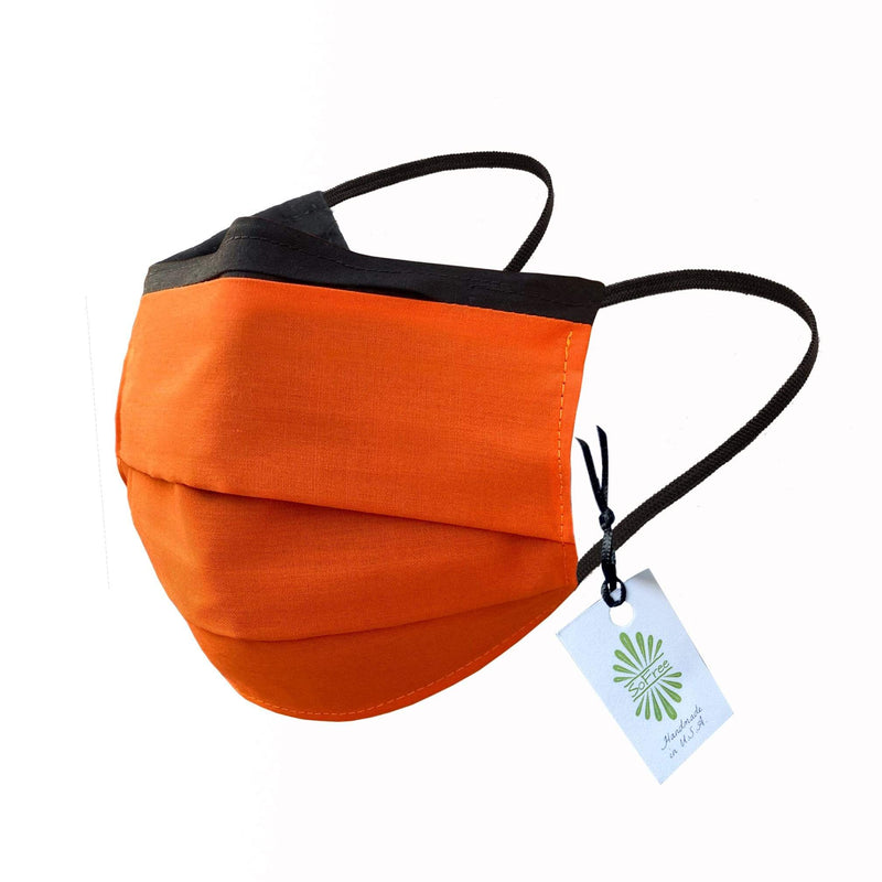SoFree Creations Face Mask Washable Face Mask with Filter Pocket - Orange