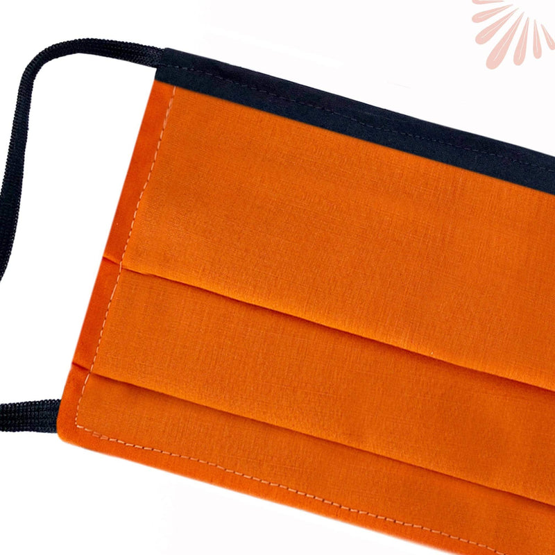 SoFree Creations Face Mask Washable Face Mask with Filter Pocket - Orange MU12-A