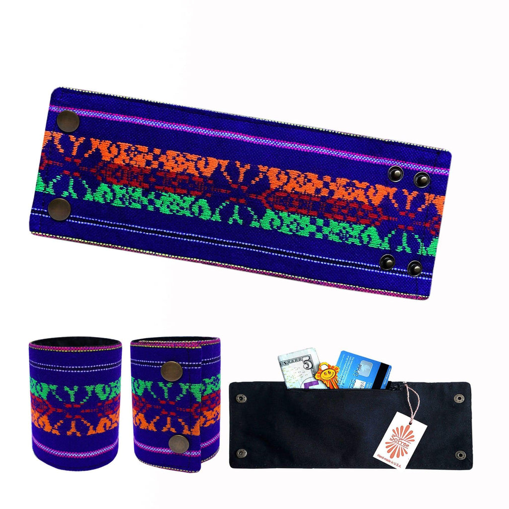 SoFree Creations Wrist Wallet Wearable Wallet Bracelet | Mexican Ethnic