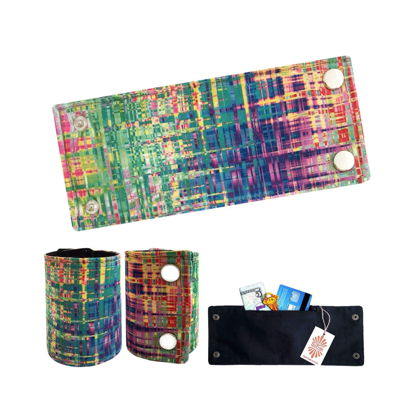 Colorful Lycra Wrist Wallet by SoFree Creations