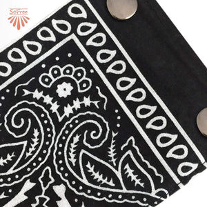 Black Bandana Wrist Wallet by SoFree Creations