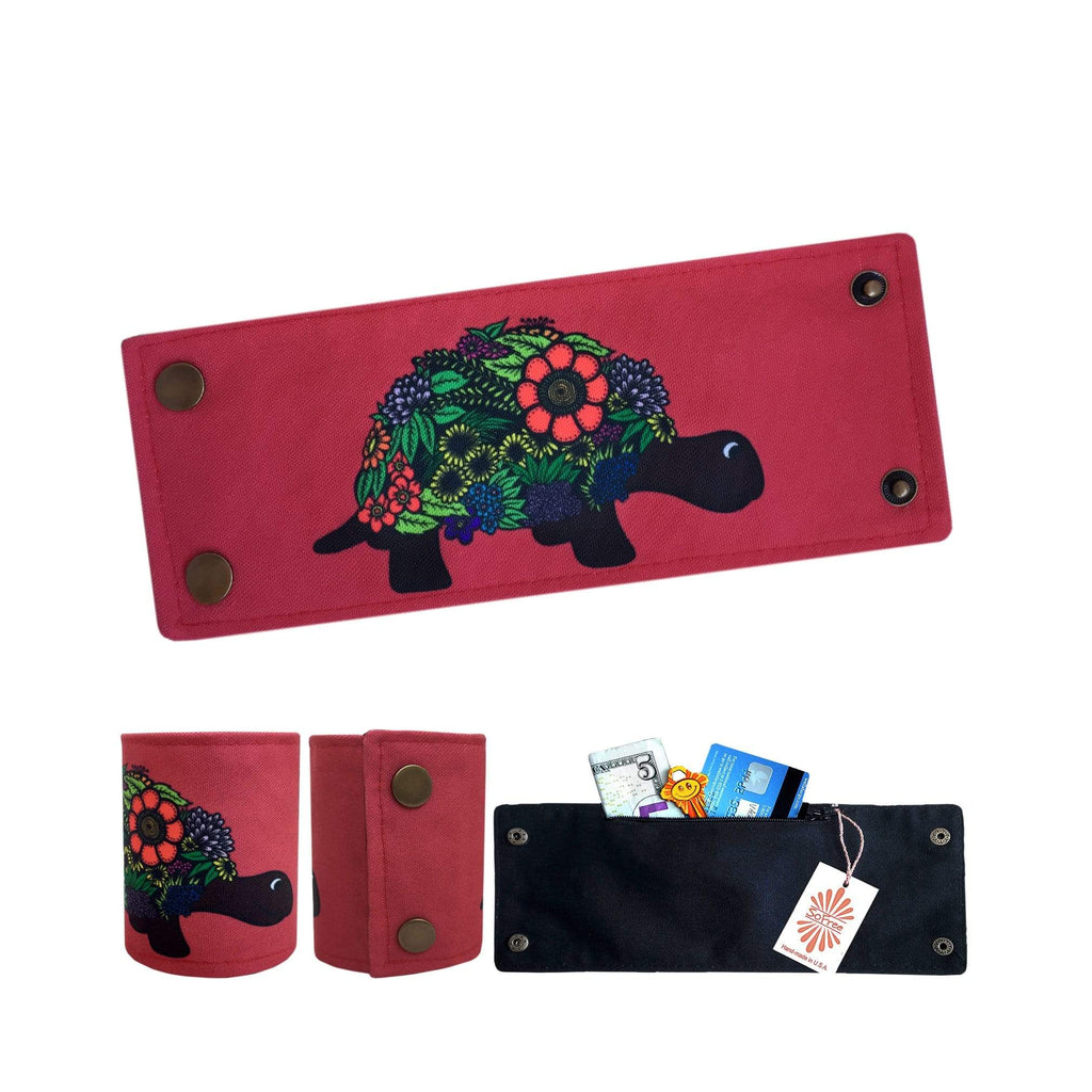 Colorful Turtle Wrist Wallet By SoFree Creations