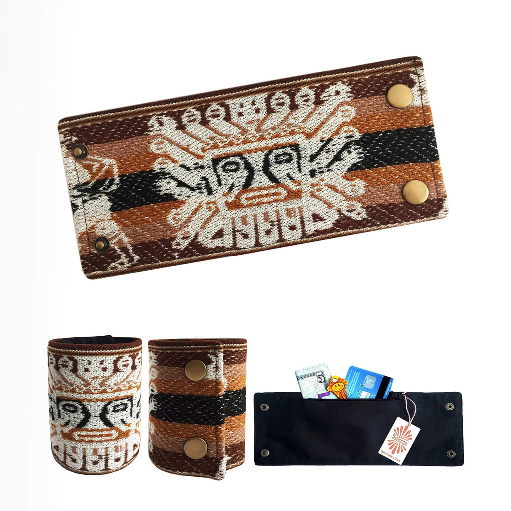 Peruvian Inti Sun Wrist Wallet By SoFree Creations