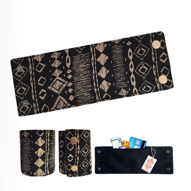 Indigenous Print Wrist Wallet By SoFree Creations