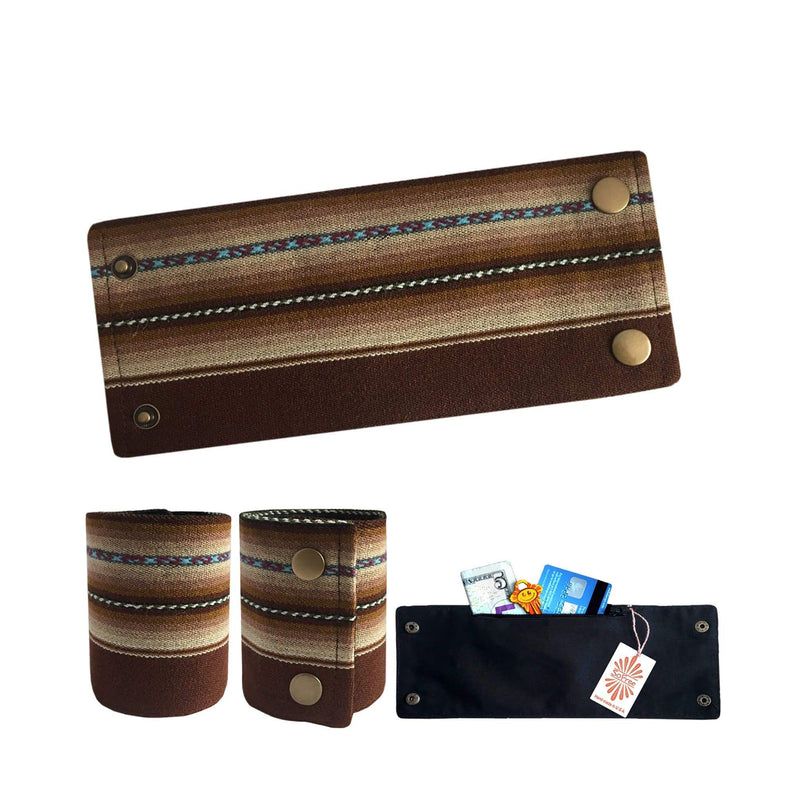 Brown Peruvian Fabric Wrist Wallet By SoFree Creations