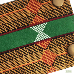 Green and Orange Wrist Wallet by SoFree Creations