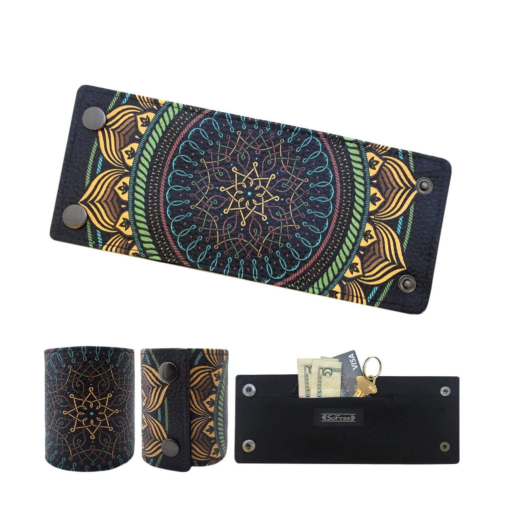 Zen Mandala Wrist Wallet by SoFree Creations