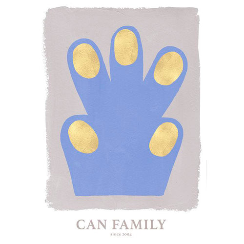 CAN Family Paw Blue 50 x 70 cm