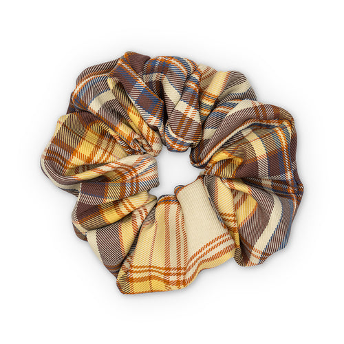 Sui Ava Ebba Check Scrunchie Stor Brown