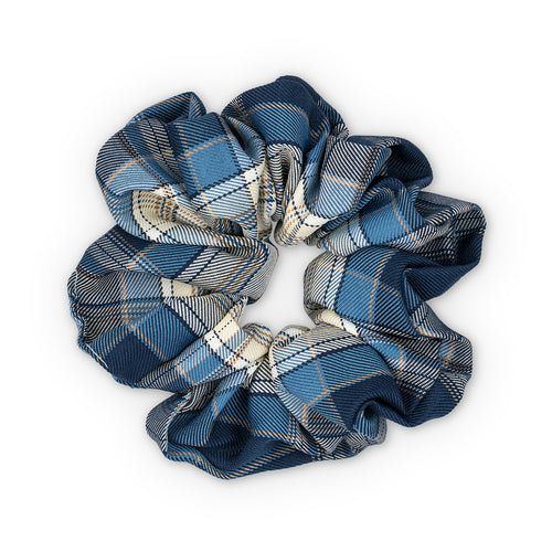 Sui Ava Ebba Check Scrunchie Stor Dark Blue