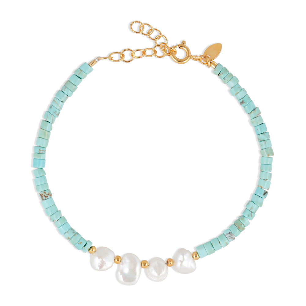 BY THIIM Turquoise Pearl Bracelet