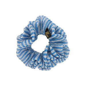 Pico Metallic Scrunchie Denim Stripe