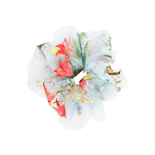 Pico Scrunchie Flower Field Light Blue