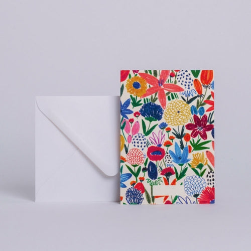 Season Paper Collection Postkort Blomsterhave