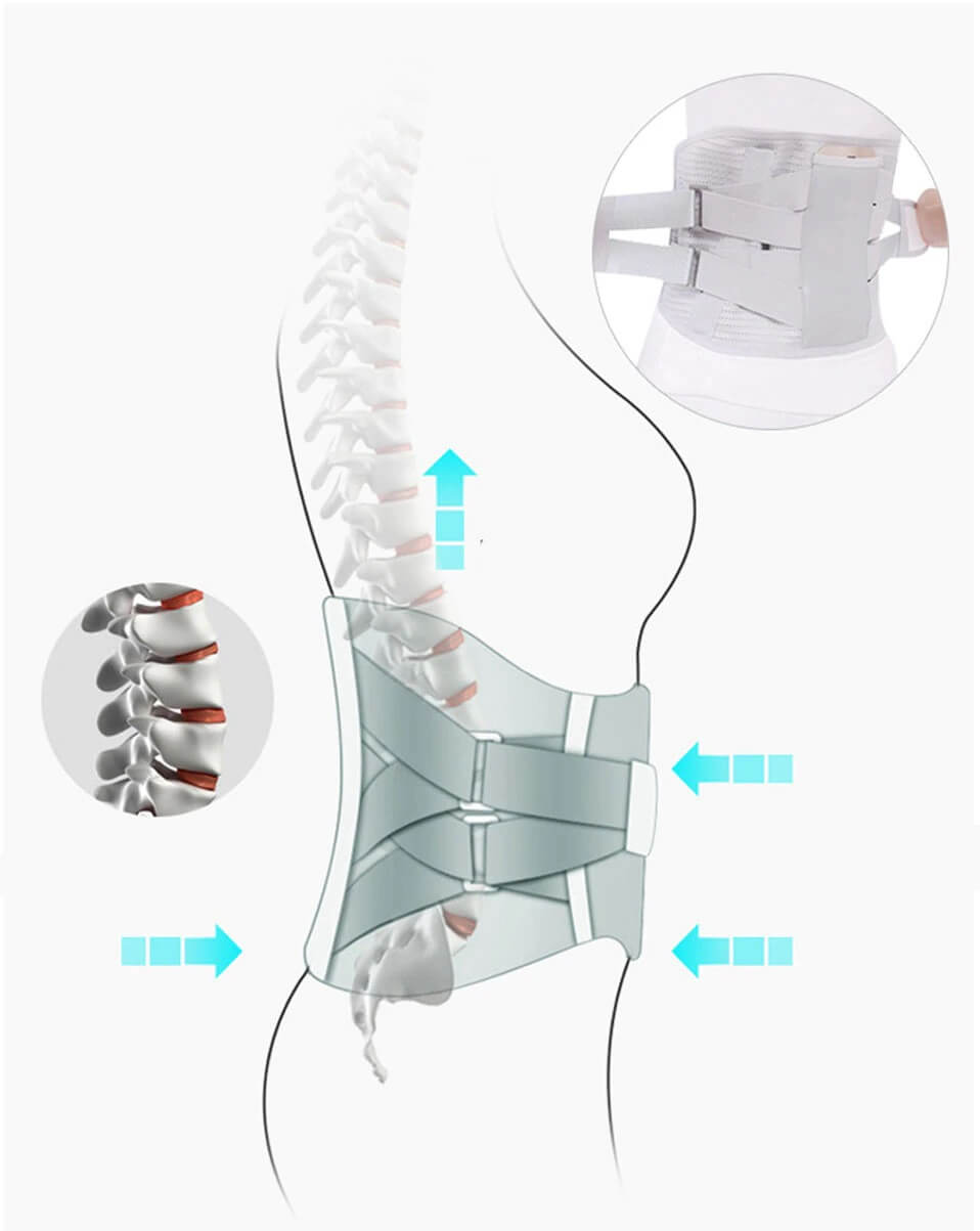 Lumbar-support-brace-supporting back