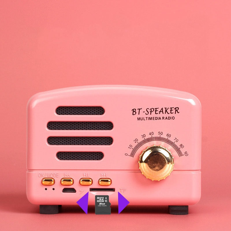 Wireless Bluetooth Speaker Support TF card  Retro