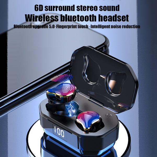 TWS G01 Bluetooth 5.0 Earphones Binaural Touch True Wireless Earbuds Stereo Heavy Bass