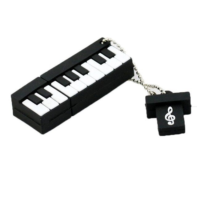 Piano Memory Stick PenDrives 8GB 16GB 32GB Musical Instrument Gift USB Drive Thumb Stick