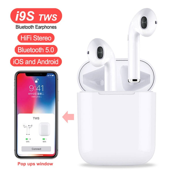i9S TWS Double Wireless Earphone Portable Bluetooth 5.0
