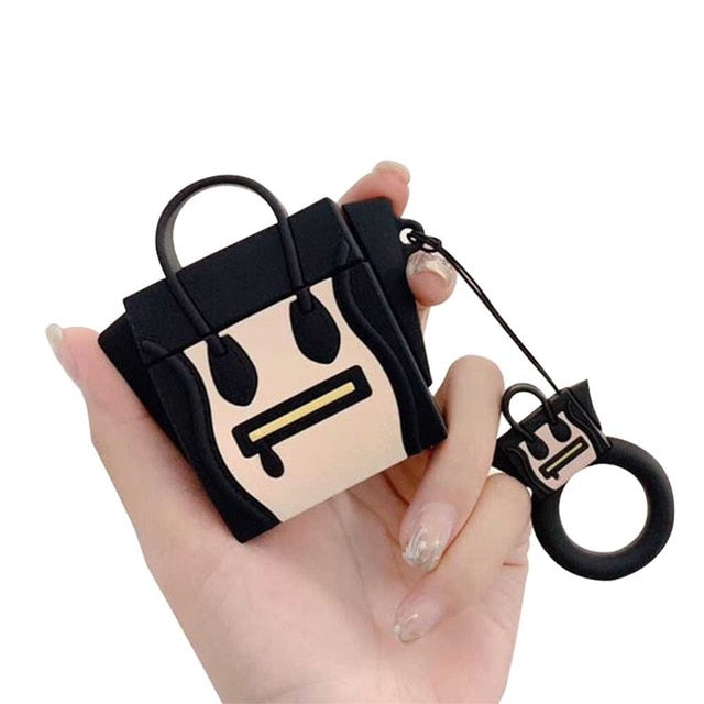 3D Luxurious Brand Handbag Tote Hobo Bag Headphone Cases For Apple Airpods 1/2