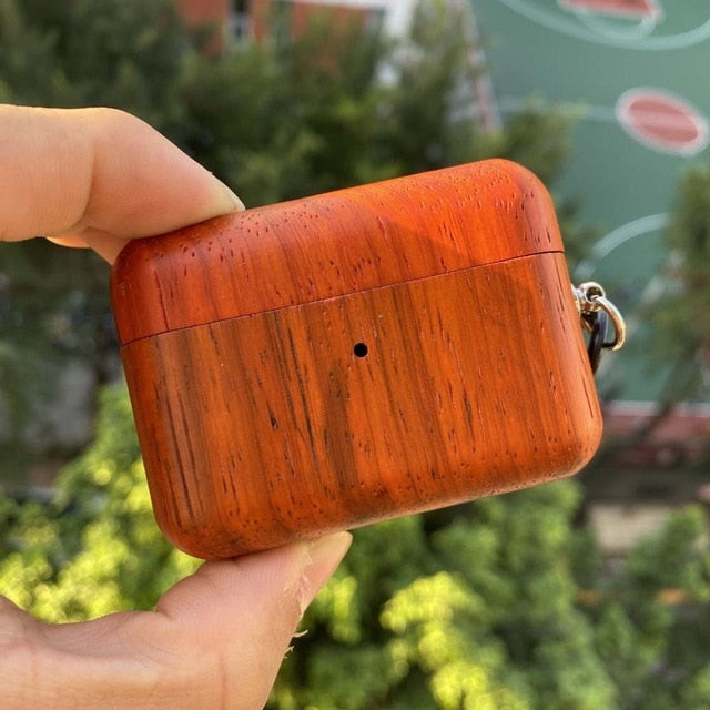 For AirPods Pro Hard Case Protective Solid wood Cover Case