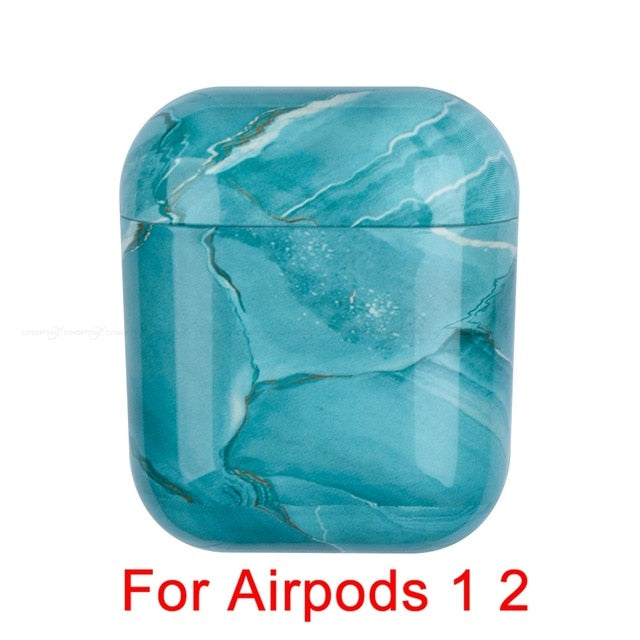 Marble Pattern Earphone Case For Airpods 1 2 Pro