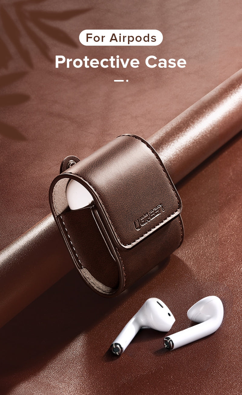 Leather  Case For AirPods 2 1