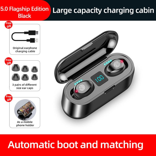 New F9 Wireless Headphones Bluetooth 5.0 Earphone