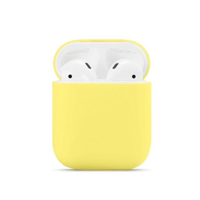 Solid color soft silicone for AirPods a